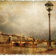 Florence - retro style picture — Stock Photo