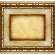 Stock Photo: Antique carved frame with blank canvas