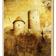 Stock Photo: Old germcastle - painted landmark series
