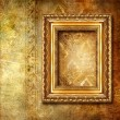 Golden background with frame — Foto Stock