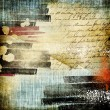 Grunge messy retro abstraction — Stok fotoğraf
