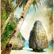 Tropical nature - artwork in painting style — Stock Photo