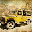 Jeep safari in mountains — Stockfoto