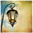 Old lantern - picture in retro style — Foto Stock