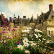 Castles of France - artistic picture — Stock Photo