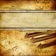 Royalty-Free Stock Photo: Grungy musical background with place for text