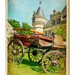 European landmarks vintage cards series — Stock Photo