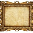 Antique frame with old canvas — Stockfoto