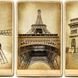 Stock Photo: Paris - vintage cards series