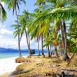 Beautiful deserted tropical beach — Stock Photo