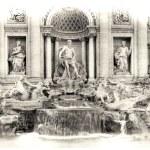 Fountain Trevi — Stock Photo