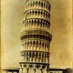 Pisa tower - italian landmarks series-artistic toned picture — Stock Photo #12821114