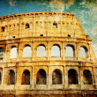 Colosseum - artistic picture in retro style — Stock Photo