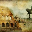 Great Rome - artwork in painting style - Stockfoto