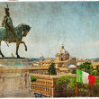 Rome - artistic retro styled picture - Stock Photo