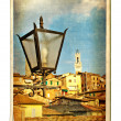 Vintage cards - European landmarks - Siena(Tuscany) — Stock Photo