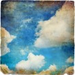 Retro styled sky paper texture - Stock Photo