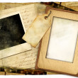 Vintage background with old letters and frames — Stock Photo #12821239