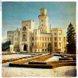 White castle - retro styled picture - Zdjcie stockowe