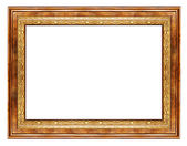 Simple wooden frame — Stock Photo