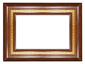 Elegant wooden frame with gilded border — Stock Photo