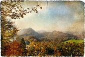 Autumn vista - artistic retro picture — Stock Photo