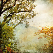 Autumn - artwork in painting style — Stock Photo