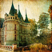 Castles of France - vintage series — Stock Photo