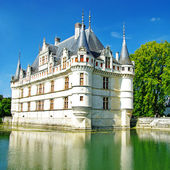 Amazing castles of Loire valley - Azey — Stock Photo