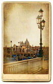 European landmarks series - vintage cards- Venice — Photo