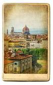 European landmarks series - vintage card- Florence — Stock Photo