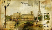 Paris paris.. vintage photoalbum series — Stock Photo