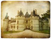 Chaumont castle - vintage card — Stock Photo