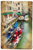 ヴェネツィア レトロ スタイル画像のチャンネル — ストック写真