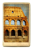 Vintage cards - European landmarks -Colosseum — Foto Stock