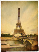 Paris- vintage style picture — Stock Photo