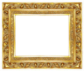 Carved antique gilded frame — Stock Photo