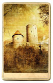 Old german castle - painted landmark series — Stock Photo