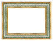 Green gilded frame — Stock Photo