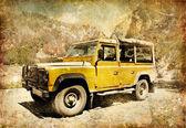 Jeep safari in mountains — Stock Photo