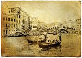 Increíble venecia - arte en estilo retro — Foto de Stock