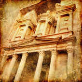 Petra - artistic vintage picture — Stock Photo