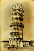 Pisa tower - italian landmarks series-artistic toned picture — Stock Photo