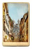 European landmarks- vintage cards- Rome (Spanish steps) — Foto de Stock