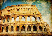 Coliseo - foto artística en estilo retro — Foto de Stock