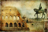 Great Rome - artwork in painting style — Stock Photo