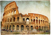 Great colosseum - artistic retro styled picture — Stockfoto
