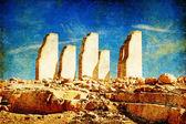 Taşlar deseret - sanatsal retro resim tarz — Stok fotoğraf