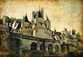 Usse castle - artistic retro styled picture (from my castles collection) — Stock Photo