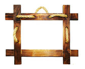 Wooden frame with rope — Stock Photo